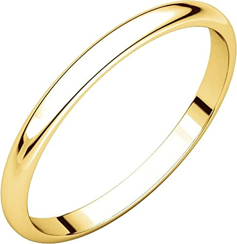 2mm Wide Plain Wedding Band Flat Mens and Womens 18k White Gold