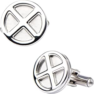 Marvel Comics Men's X-Men Logo Stainless Steel Cufflinks, Silver, One Size