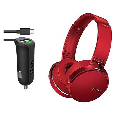 Sony MDRXB950B1 - Auriculares inalámbricos Bluetooth con cargador de coche micro USB