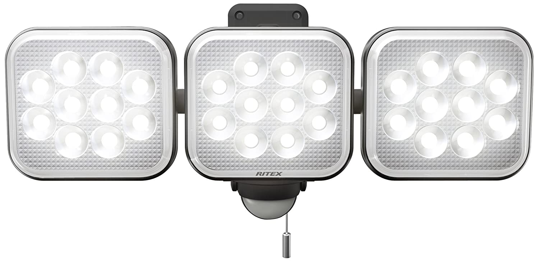 ムサシ RITEX フリーアーム式LEDセンサーライト(12W×3灯) 「コンセント式」 防雨型 LED-AC3036 B01BEJY2L8