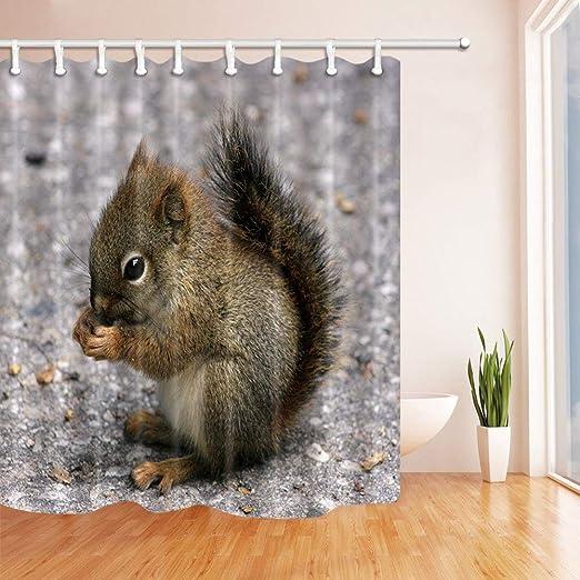 Beautiful girl and fox Shower Curtain Bathroom Decor Fabric /& 12hooks 71*71inch
