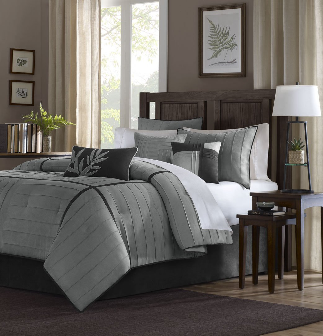 Madison Park Connell Comforter Set, California King, Grey MP10-148