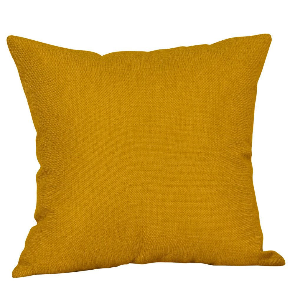 TiTCool 2019 Pillow Covers 18x18 inch Throw Pillow Cases Decorative Yellow Geometric Home Outdoor (E)