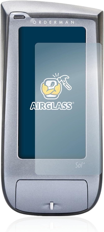 BROTECT Panzerglas Schutzfolie kompatibel mit Orderman SOL Anti-Fingerprint AirGlass HD-Clear 9H H/ärte