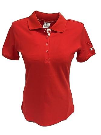 Champion - Polo para Mujer, Art. 111453, Color Rojo Rojo XXL ...