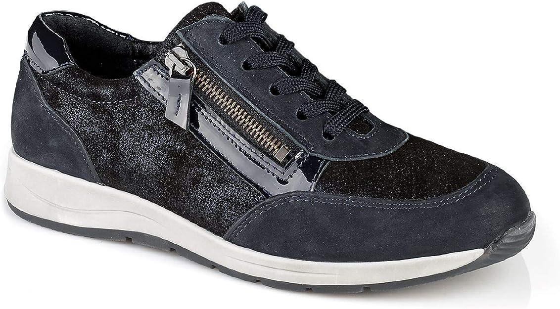 Walbusch Damen Reißverschluss Sneaker Glitzermix einfarbig