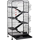 """Yaheetech 52"""" 5 Level Large Rats Cage Chinchilla Cage Similar Size Pet Small Animal Hutch Run Cage with Accessories 64 x 43 x 131 cm / 25.2 x 16.9 x 51.6'' (LxWxH)"""