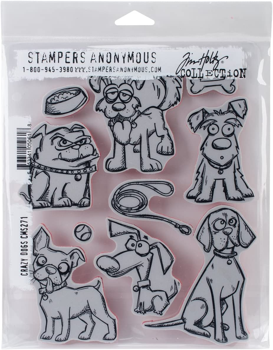 Stampers Anonymous CMS Set StampersA Cling Stamp THoltz Crazy Dogs