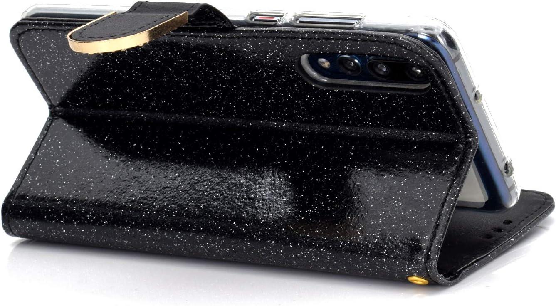WIWJ Kompatibel mit Huawei P20 Pro H/ülle Glitzer Diamant Magnet Leder Handyh/ülle 360 Grad Wallet Schutzh/ülle Silikon Flip Klapph/ülle Tasche-Wei/ß