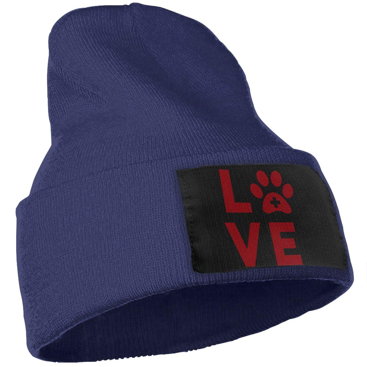 Love Vet Tech Paw Cute Beanie Hat Mens and Womens 100/% Acrylic Knitted Hat Cap