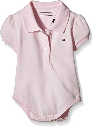 Tommy Hilfiger Baby Basic Polo Body S/S, Bebés, Rosa (Ballerina ...