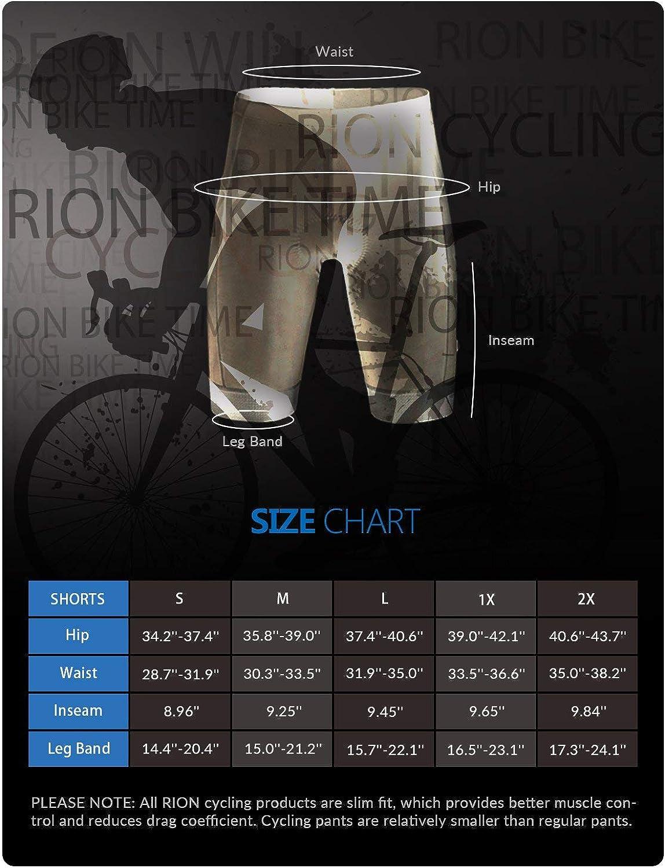 RION Cycling Bibs Shorts Men's Bike Padded Tights Bicycle Pants: Clothing