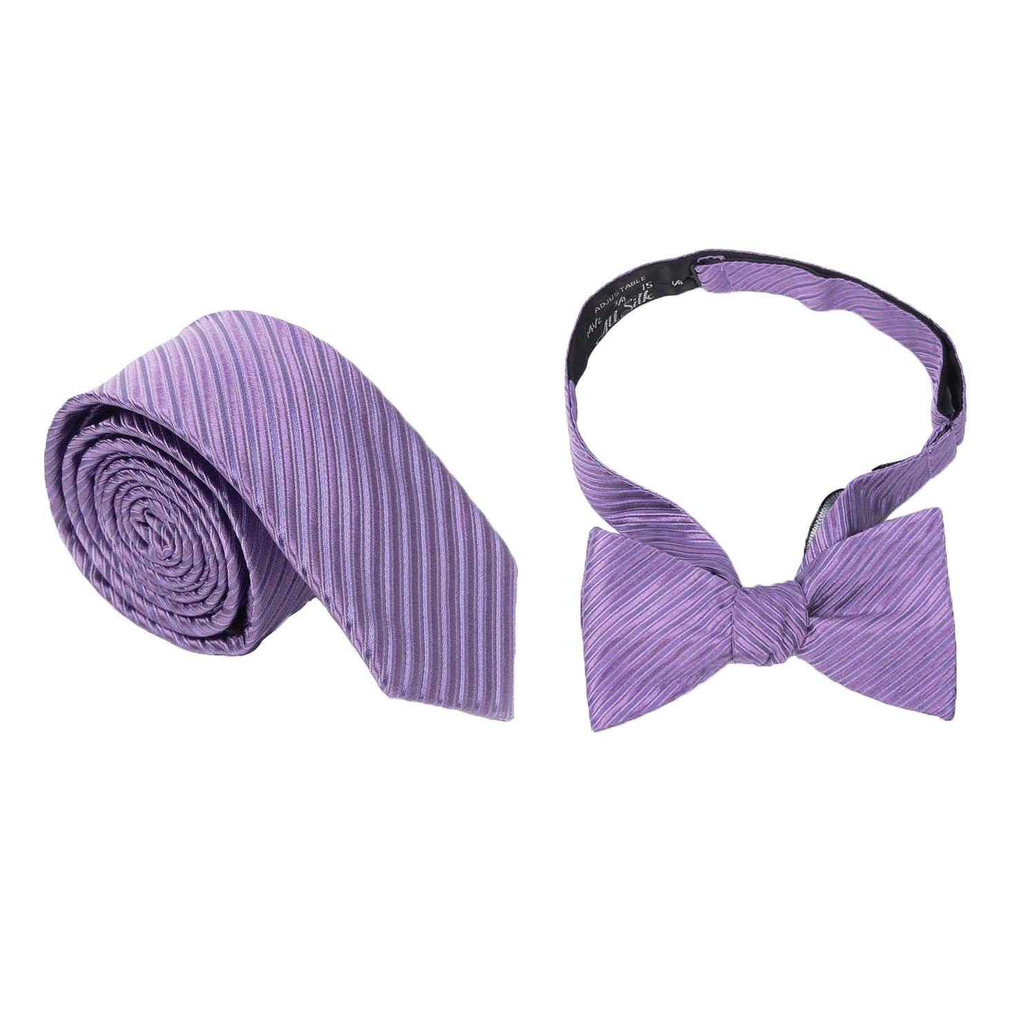 Landisun Value Pack For Silk Skinny Tie Bow Tie Hanky