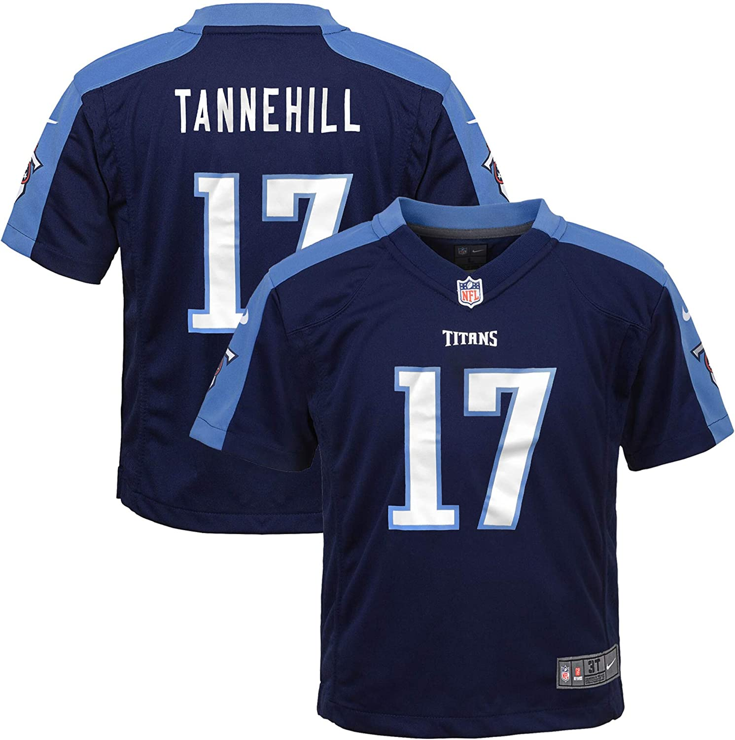Ryan Tannehill Tennessee Titans #17 Youth 8-20 Navy Home Game Day Jersey
