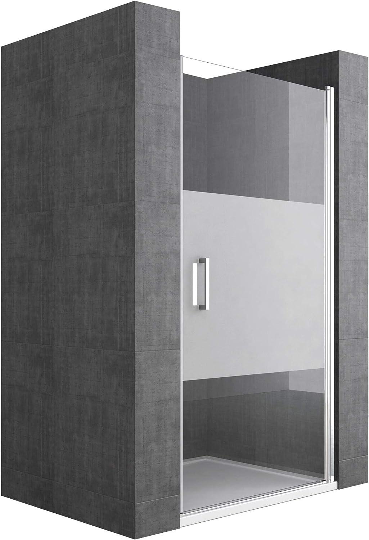 Mai /& Mai double porte de douche pivotante 180/°auto-levante paroi de douche pour niche 120x195cm en verre ESG transparent de 6mm avec rev/êtement Nano Ter24K