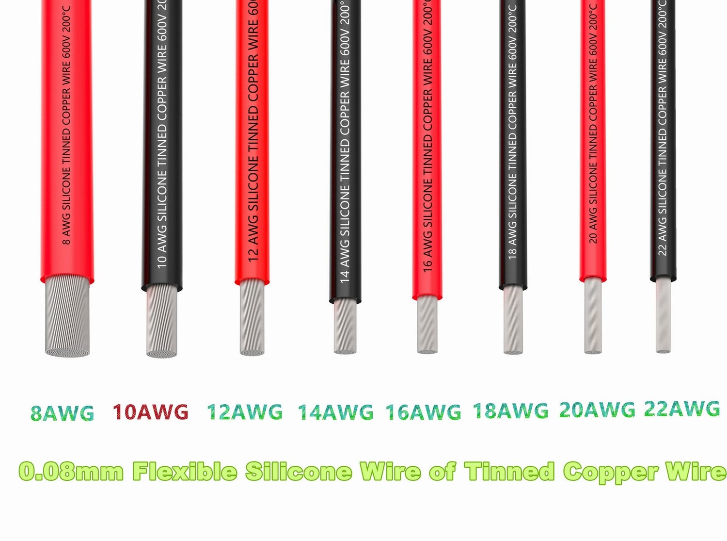 Amazon.com: TUOFENG 10 AWG Silicone Wire 10 Feet red black wire - 10 ...