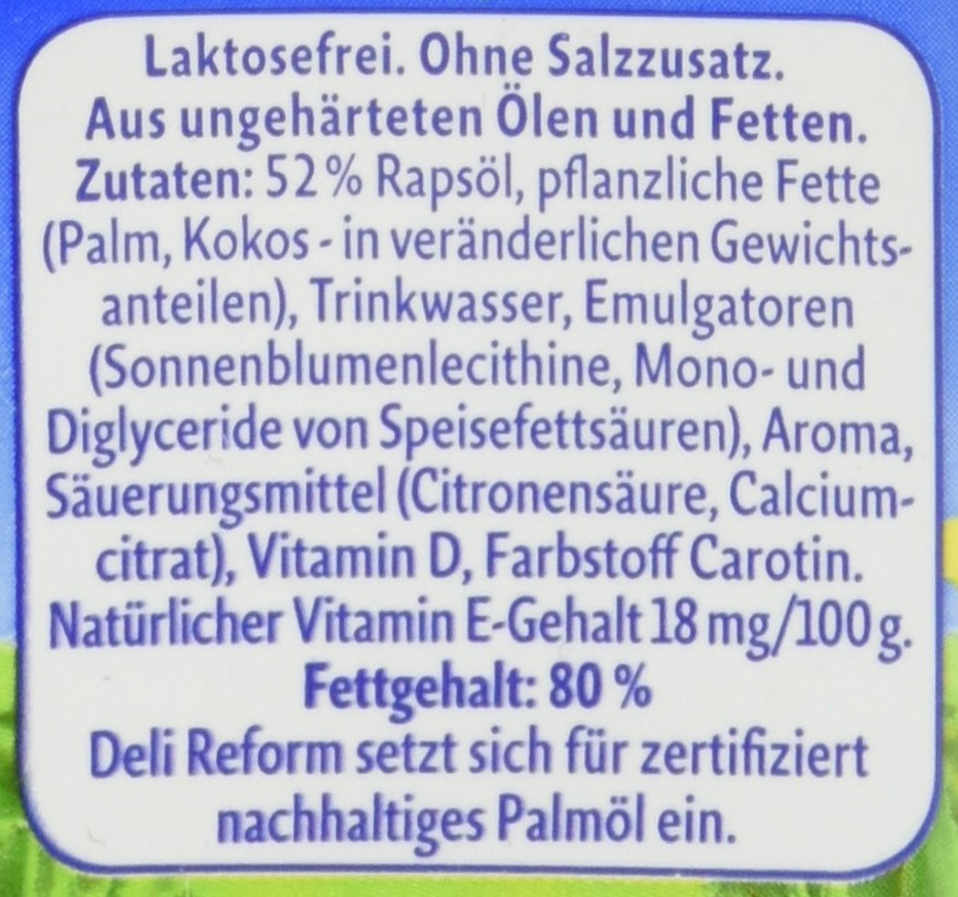 Deli Reform gesunde Margarine, 500 g: Amazon.de: Amazon Pantry
