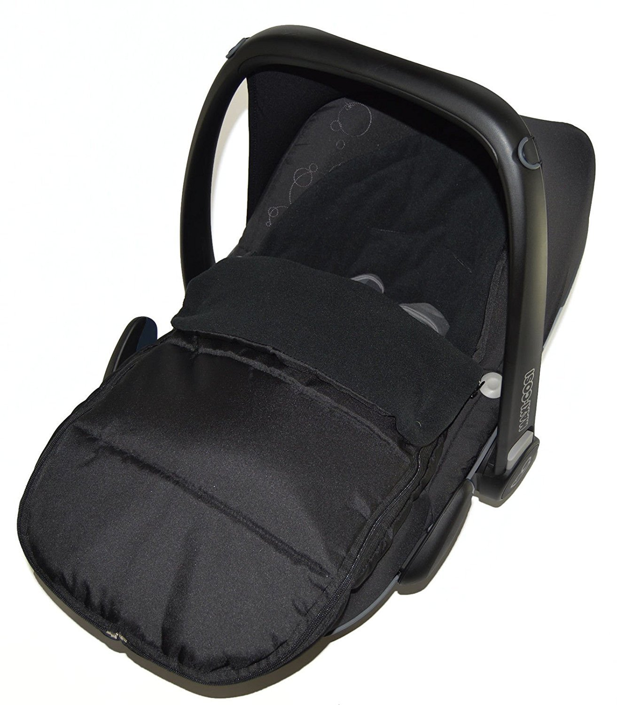 Chancelière Siège auto/Cosy orteils Compatible avec Maxi Cosi Cabrio Black Jack For-Your-Little-One