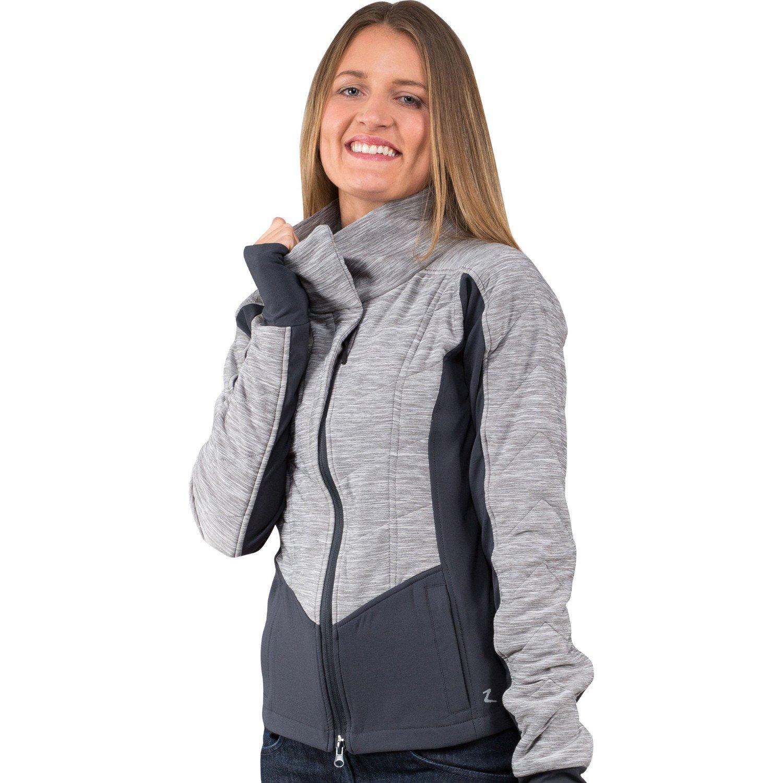 Horze Chloe Women's Light Padded Jacket With Stretch For Custom Fit Steel Grey/Dark Grey 8