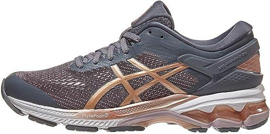 ASICS Womens Gel-Kayano 26 Running Shoes, 9.5M, Metropolis/Rose Gold: Amazon.es: Zapatos y complementos