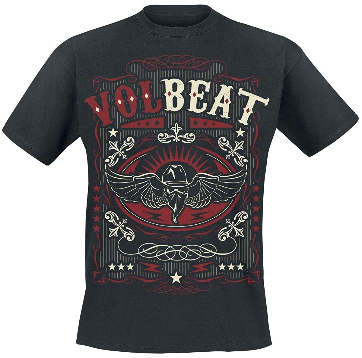 Western Wings Black T-Shirt VOLBEAT