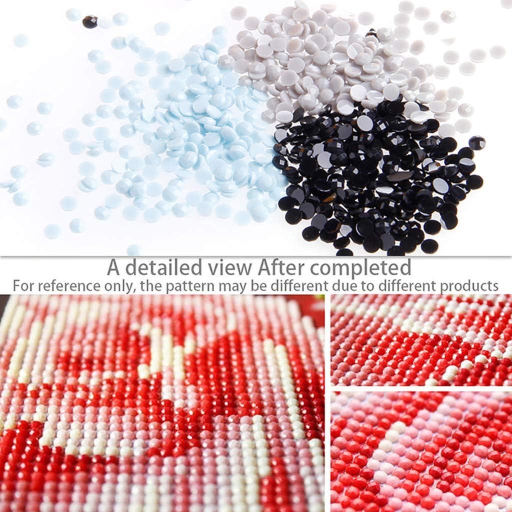 Xurgm DIY Diamante Pittura Gatto e Farfalla 5d Diamond Painting Completamente Fatto a Mano Adesivo con Set Digitale Bel Ricamo Pittura Punto Croce Decorazione da Parete