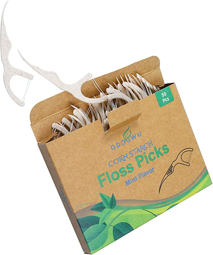 Odogwu Corn Starch Natural Dental Floss Picks