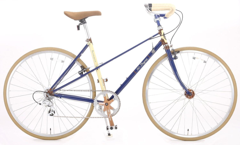 180Degree(ワンエイティディグリー) 折りたたみ自転車 700C TTM01 NASTALGICO クロモリ製 8段変速 ブルー B009QV316O