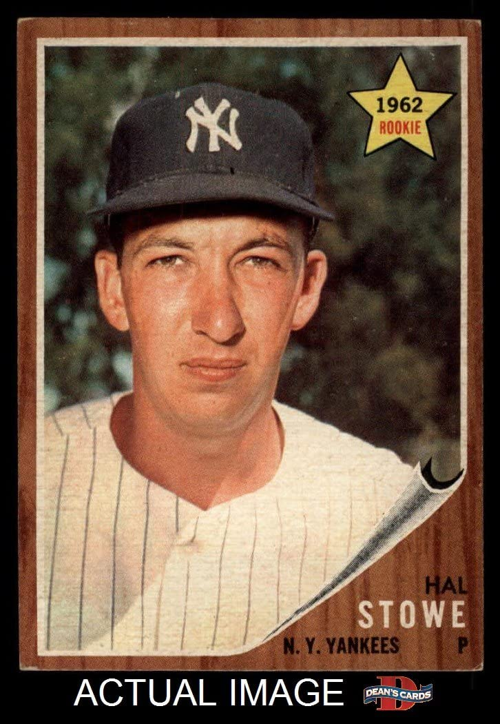 1962 Topps # 291 Hal Stowe New York Yankees (Baseball Card) Dean's Cards 6 - EX/MT Yankees