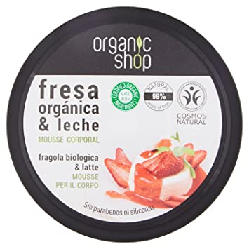 Mousse Corporal - Strawberry Yoghurt - Organic Shop