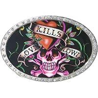 Harley-Davidson Womens Buckle Twist /& Turn Bar /& Shield Embellished HDWBU10280