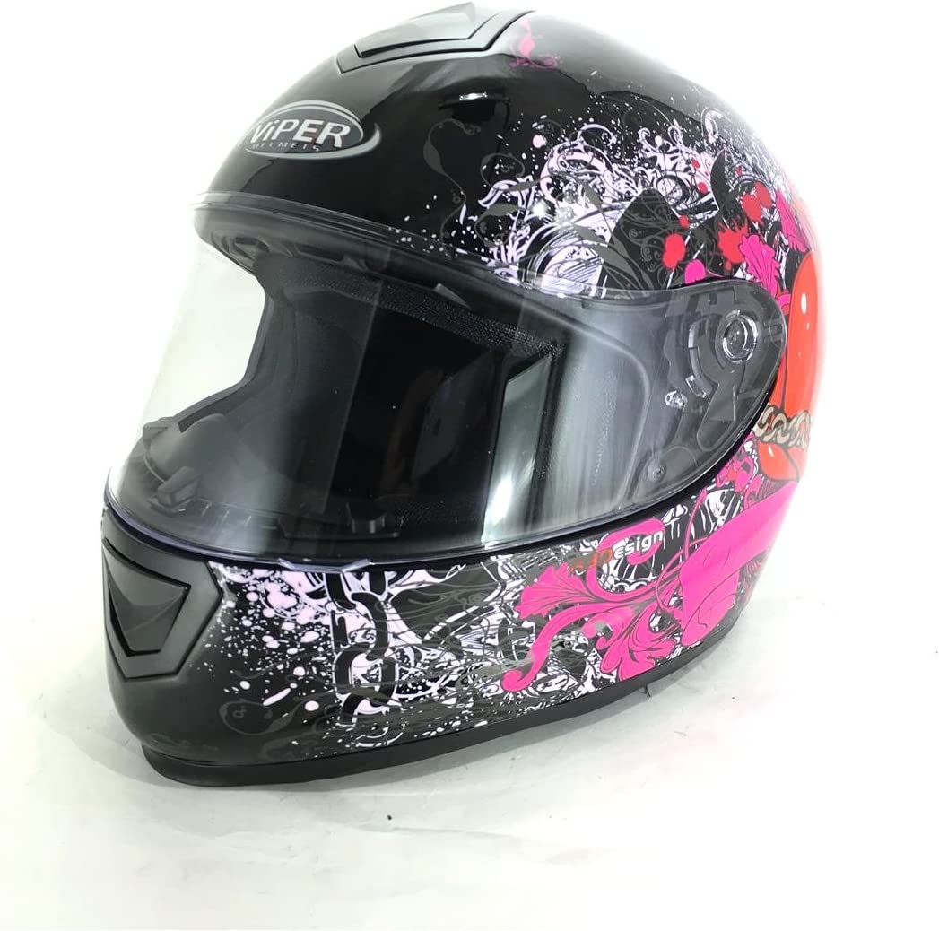 para deportes ECE 22.05 ACU Casco integral para motocicleta y motociclista en carretera color negro mate VIPER RS250