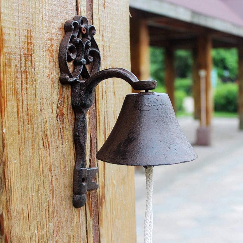 SMLZV Colgante de Pared de Hierro Fundido Puerta de Bell Antiguo Crafts Bell de Mano de decoración - for la Puerta de Entrada, jardín, Patio, Patio