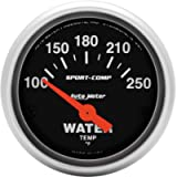 Auto Meter 3337 Sport-Comp Electric Water Temperature Gauge, Regular, 2.3125 in.
