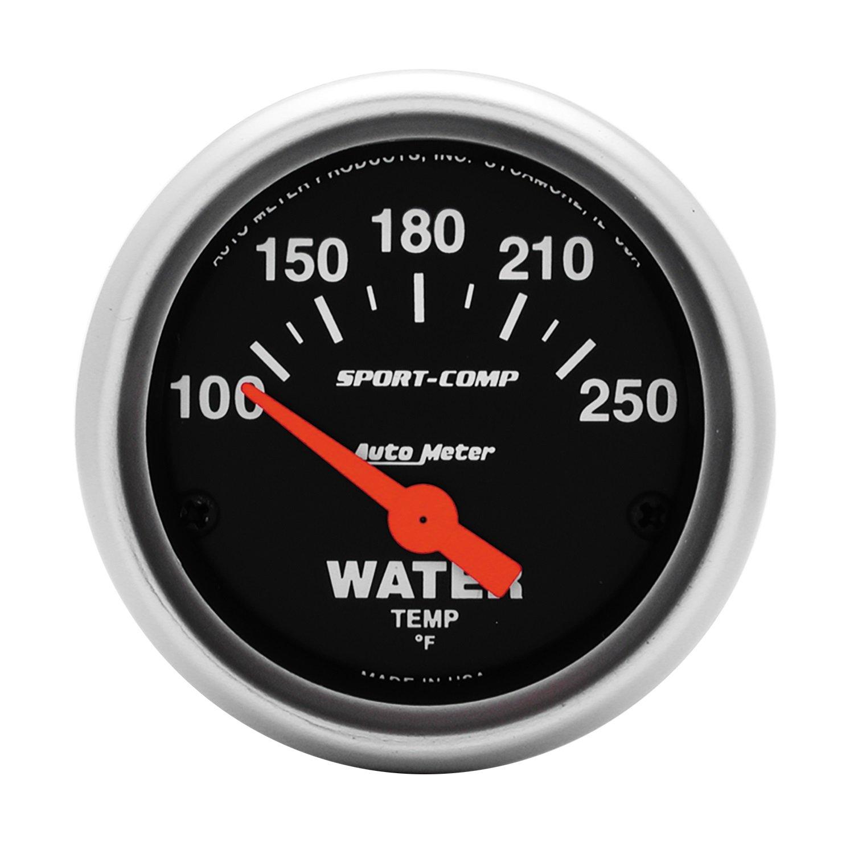 Auto Meter 3337 Sport-Comp Electric Water Temperature Gauge