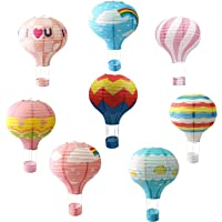 Hanging Hot Air Balloon Paper Lanterns Set Party Decoration Birthday Wedding Christmas Party Decor Gift 12 inch Lanterns…