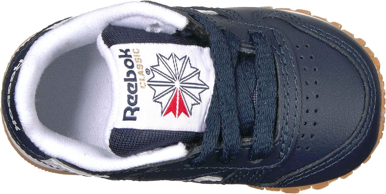 Reebok Classic Leather Shoe (Little Kid) Collegiate Navy White Gum