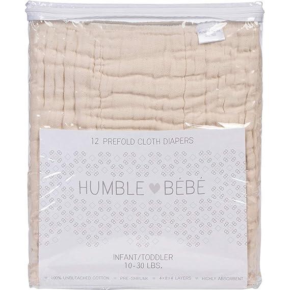 Amazon.com: Paquete de 12 pañales de tela predoblados ...