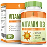Vitamina D 2000 IU - Colecalciferol - Alta Concentración y Absorción - Vitamin D3 - Para Hombres y Mujeres - Apto Vegetarianos - 180 Pastillas (Suministro Para 6 Meses) de Earths Design