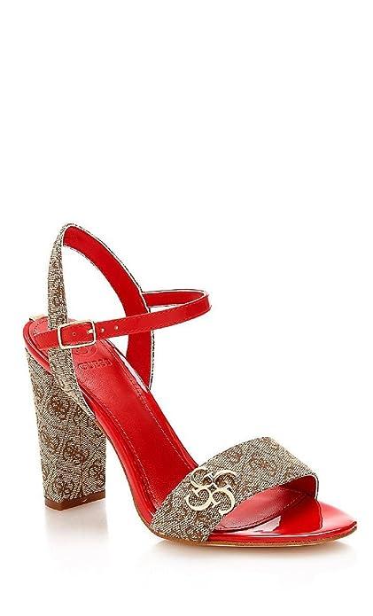 b79949f3 GUESS Sandalias de Vestir Mujer Tacon Alto Beige Dorado Rojo Talla 37:  Amazon.es: Zapatos y complementos