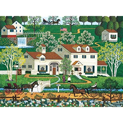Charles Wysocki - Gingernut Valley - 1000 Piece Jigsaw Puzzle: Toys & Games