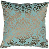 Home- The best is for you self Design Woven Cotton Cushion Cover (40 x 40 cm, Turquoise)