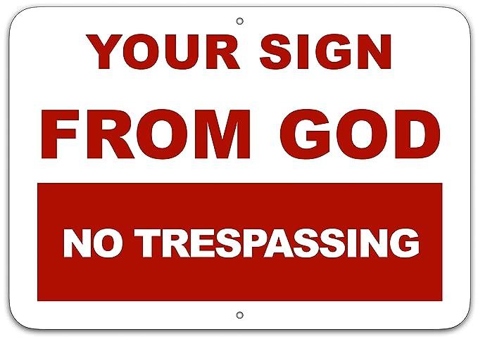 Amazon.com: Su cartel de Dios no se detiene signo ...