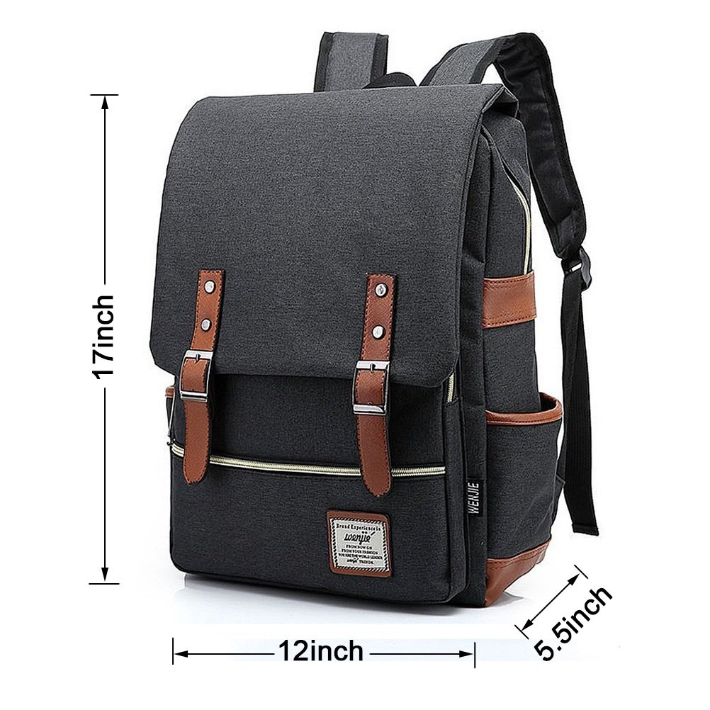 Unisex Professional Slim Business Laptop Backpack, Feskin Fashion Casual Durable Travel Rucksack Daypack