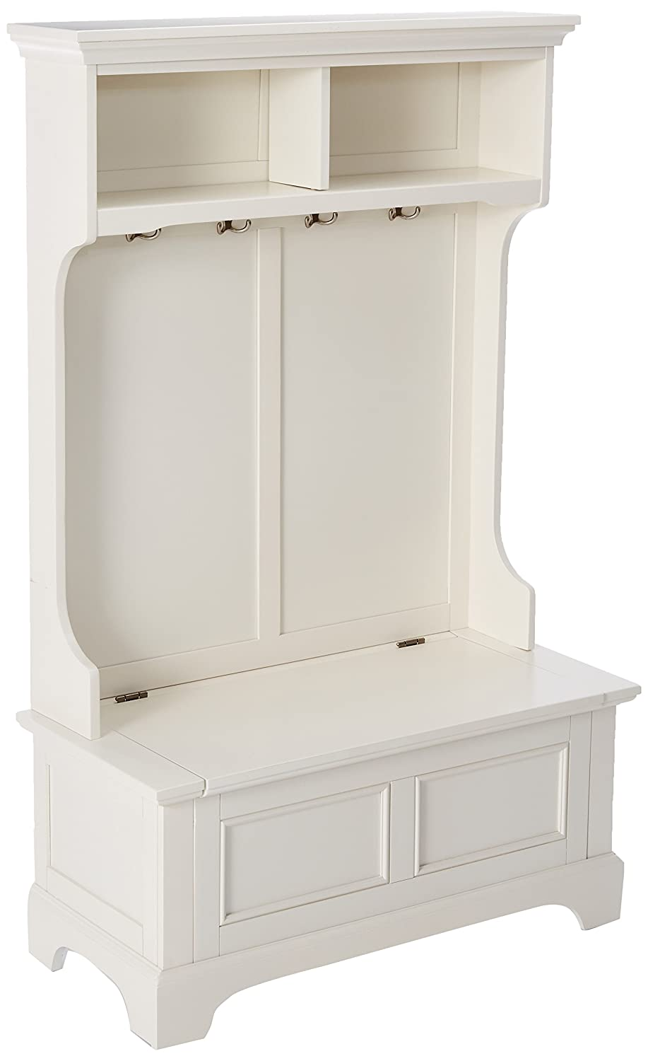 Amazon.com: Home Styles Naples mueble blanco con banco de ...