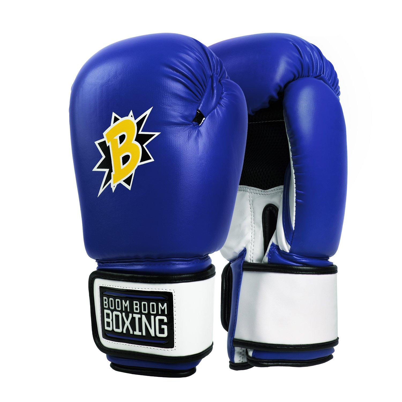 Boom Boom Boxing Bomberボクシンググローブ B07FQZBNS8 ブルー/ホワイト/ブラック 12 oz