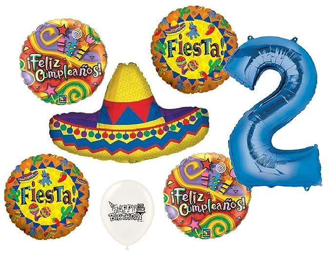 Amazon.com: Ultimate Sombrero Fiesta Feliz Cumpleanos 2nd ...