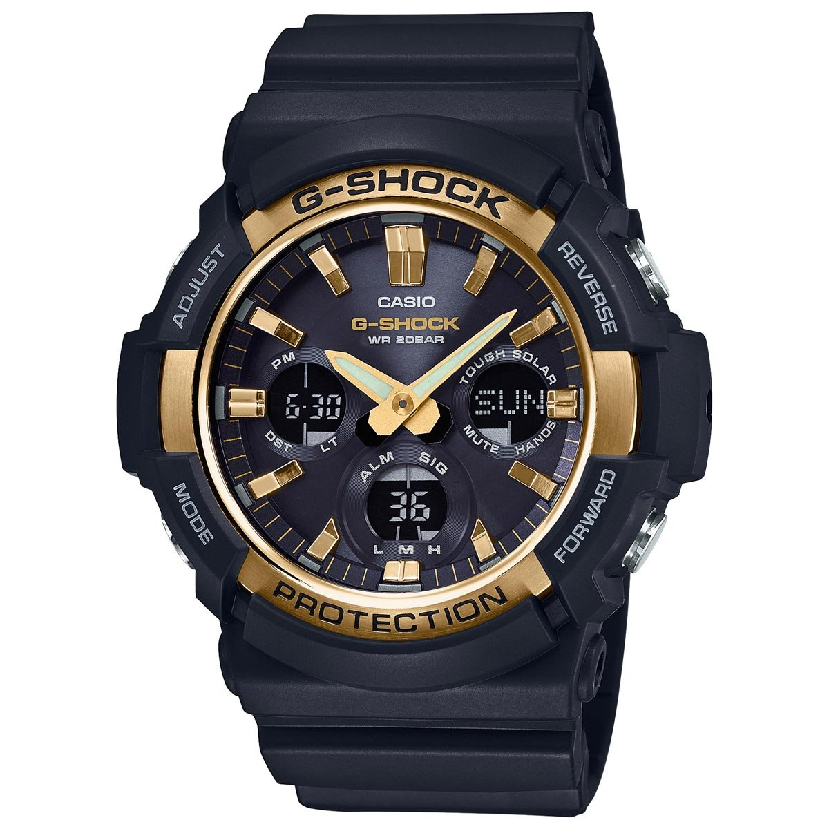 Casio G-Shock GAS100G-1A Tough Solar Resin Stainless Steel Men s Watch Black