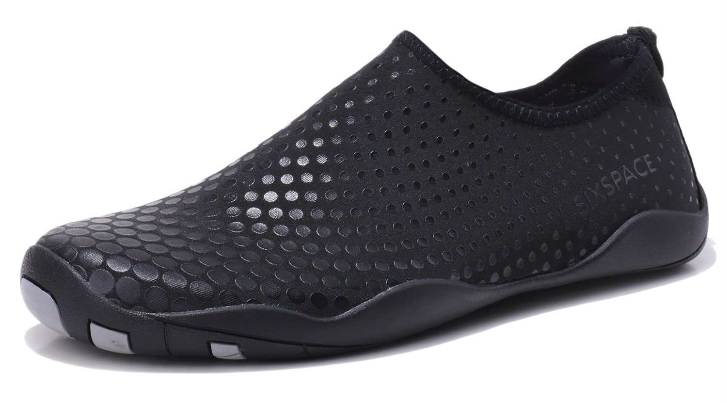 Sixspace Men Women Water Shoes Quick-Dry Durable Sole Barefoot Water Skin Shoes for Beach Pool Surf Yoga Exercise, Black 37