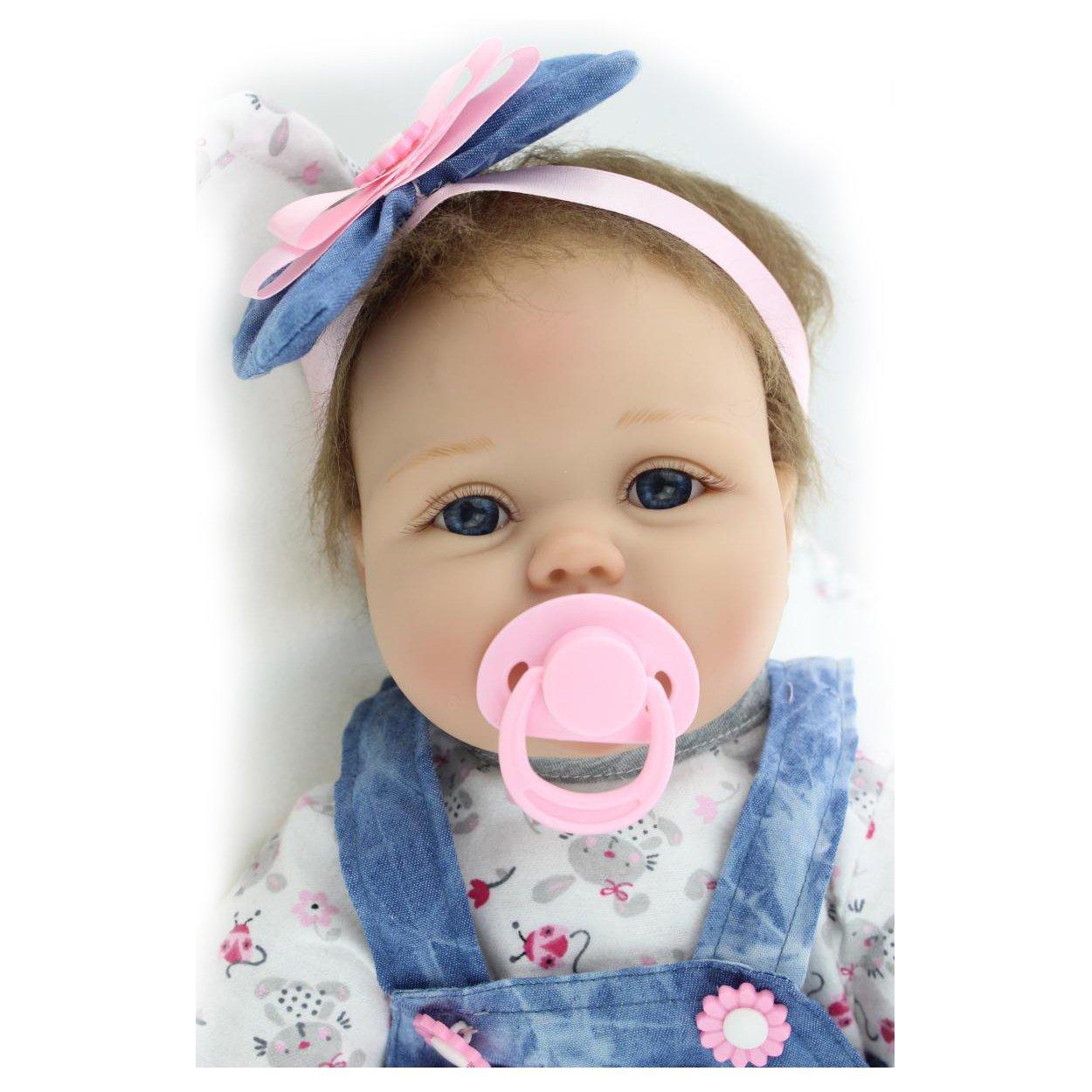 NPK Reborn Baby Puppe Weich Silikon Vinyl 22inch 55cm Magnetisch Mund Naturgetreue Jungen Mädchen Spielzeug Dolls toys